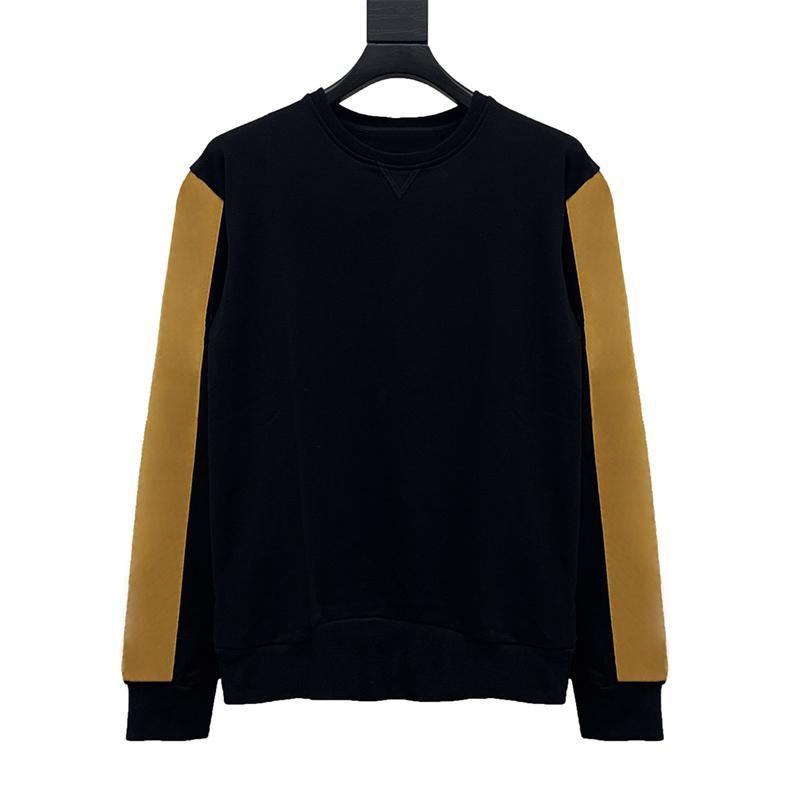 Neue Mode-Sweatshirt Hoodie Paare Brief Druck Pullover Herren Rundhals-lange Ärmel mit geprüftem Muster auf dem Arm
