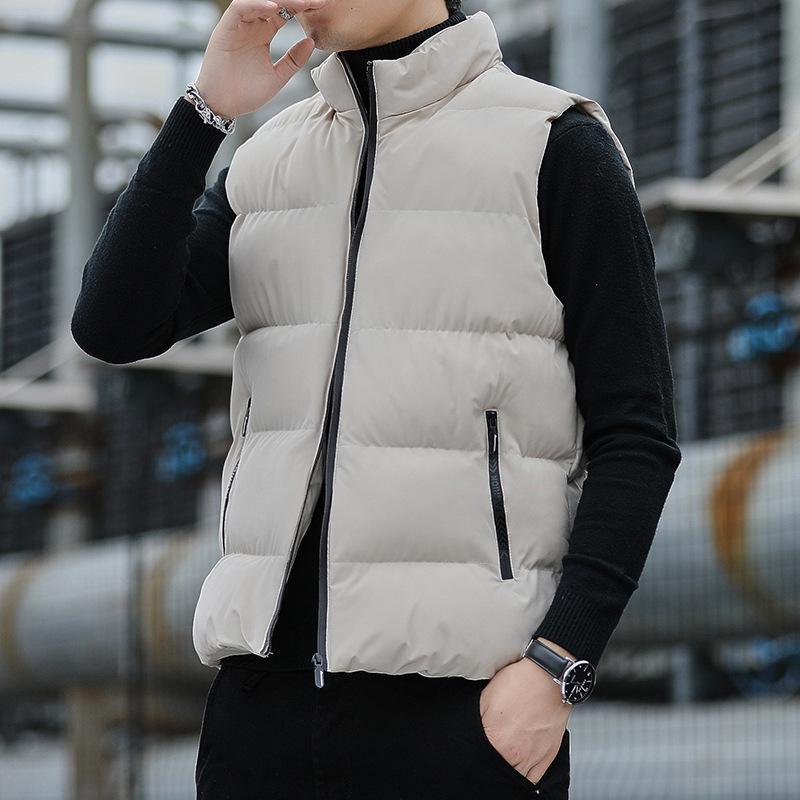 Nouveau gilet automne et descendant coton coton épaissie gilet coréen manteau de mode hiver hiver marée chaude marque hommes
