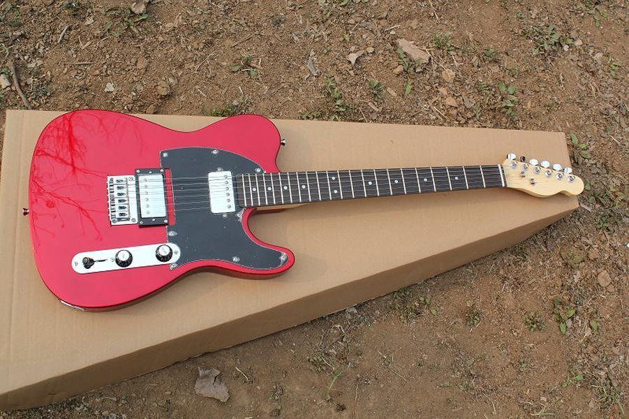 Гитара Красной электрическая с 2 хамбакерами, черной накладкой, Rosewood грифом, Chrome оборудованиями, предлагая индивидуальные услугами,