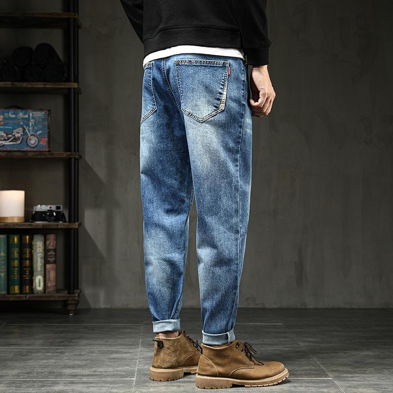 Hot Harlan Calças Esticar Denim Homens Outono Primavera Novo Masculino Jeans Solto Grande Plus Size Calças de Marca de Algodão Masculino