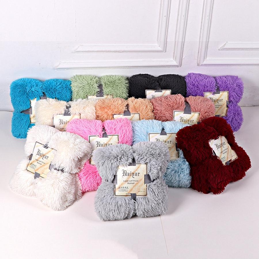 Blankets Soft Fur Faux With Fluffy Throw Blanket Bed Sofa Bedspread Long Shaggy Soft Warm Bedding Sheet Cozy Blankets RRA3700