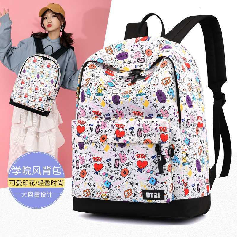 حقيبة مدرسية الأزياء أكسفورد حقيبة ظهر مطبوعة متعددة الاستخدامات السفر طالب في الهواء الطلق حقيبة الظهر