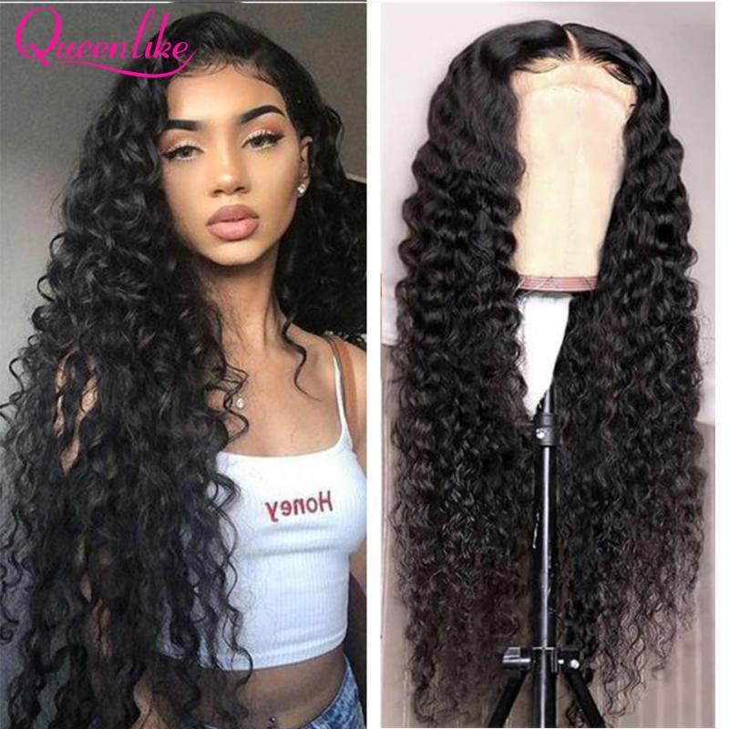 Кружевные парики 4x4 Закрытие человеческих волос Волна Волна Фронтальный парик Precucked Для Черных Женщин 6x6