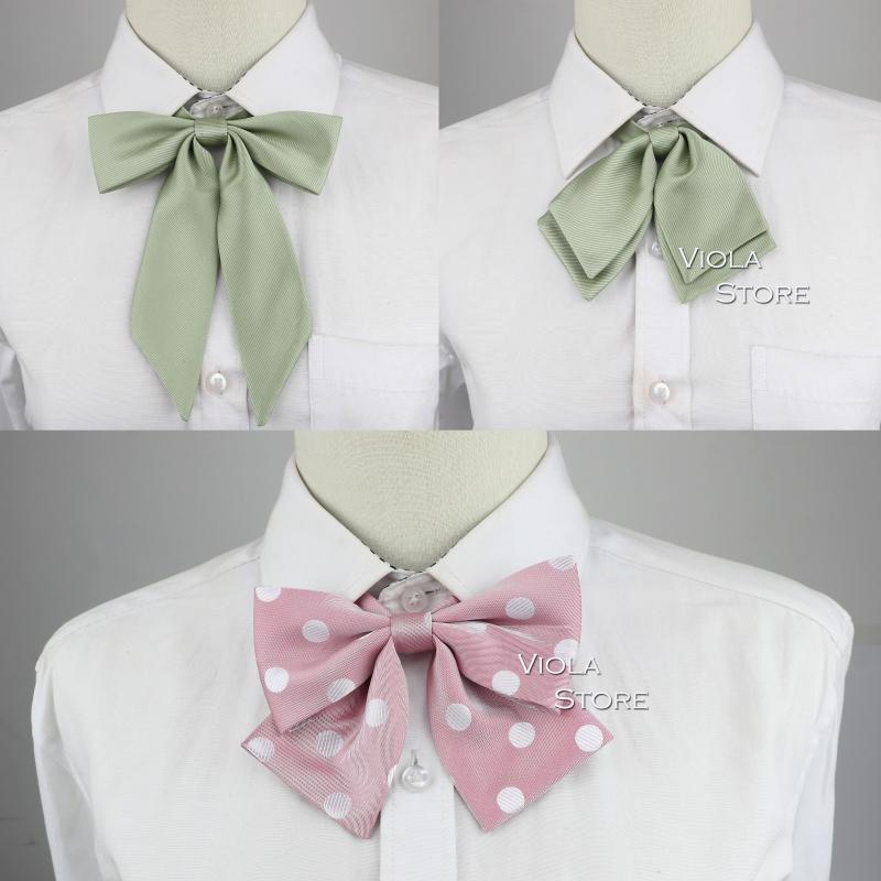 Широкие галстуки Симпатичные Винтажные точки Стиль Стиль колледжа Стиль Стиль Леди Бантики Женщины Девушка Студент Косплей Партия Офис Офис Универсальный Костюм Аксессуар Бабочка