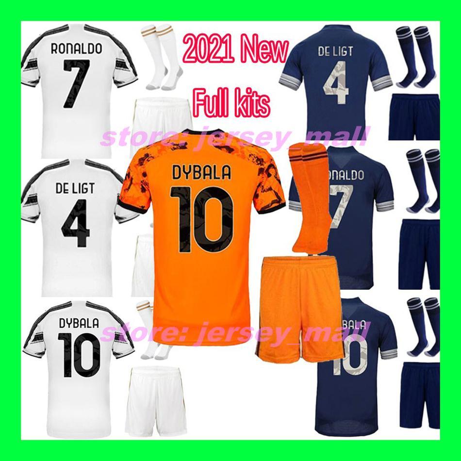 camicia di gioco del calcio degli uomini di calcio maglia RONALDO Dybala MORATA ARTHUR McKennie DE Ligt 20 21 JUVE uomini della maglietta uniformi del corredo 2020 2021 via terzo