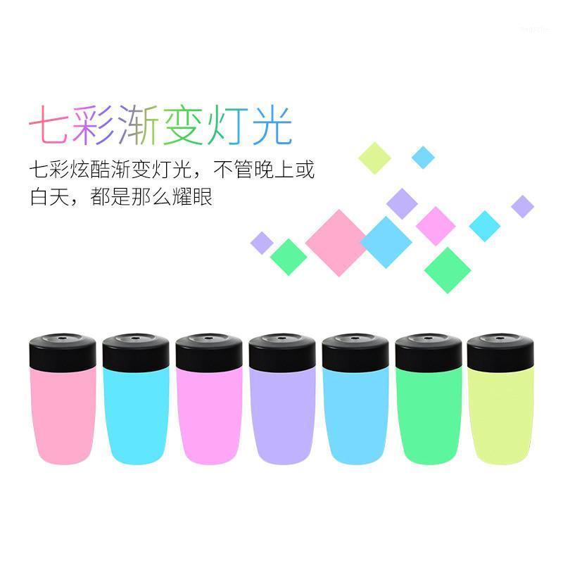Copa de nuevo estilo creativo Difusor de aroma pequeño Difusor de noche colorido Luz de luz esencial Mini humidificador Regalo de vacaciones