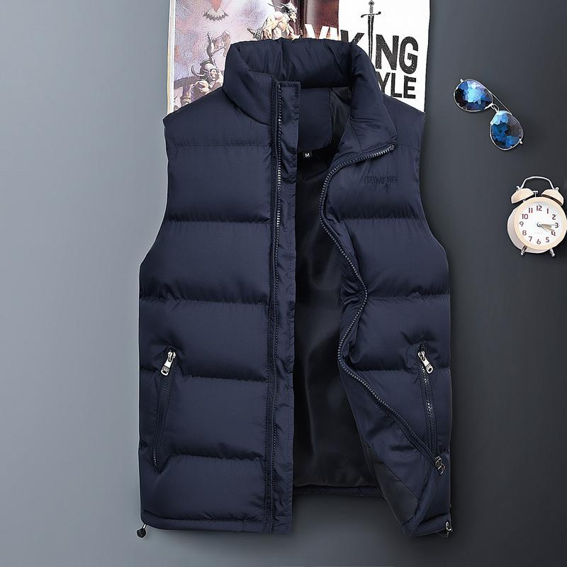 2020 Новое поступление бренда мужчины без рукавов куртка зимний ультралегкий жилет мужской тонкий жилет мужской ветрозащитный теплый жилет большой