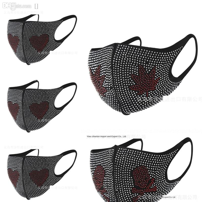 5NfB Bling Rhinestone Masquerade Face Masks Crystal New Face Mask Face Veil Jewelry Party Style Club Style Rhinestone