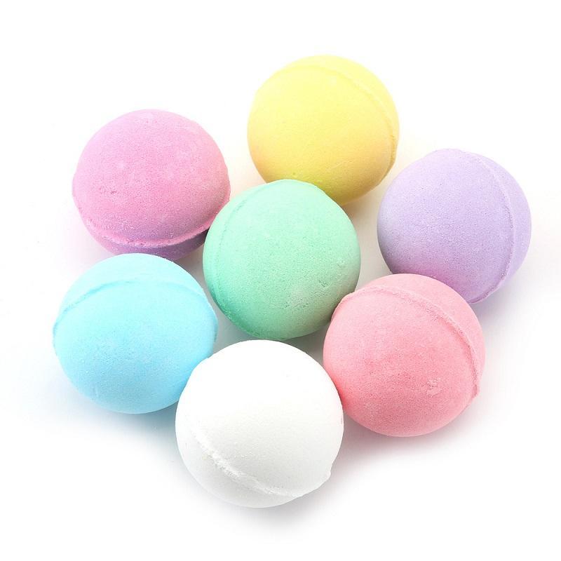 Cor aleatória da saúde 10g! Natural Bubble Bath Bomb Bola Essencial de Óleo Handmade Spa Sala Bolas Fizzy Christmas Presente para ela