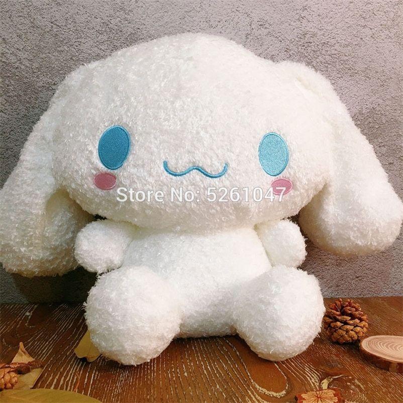 Fluffy Cinnamoroll Plush Doll Cute Dog Stuffed Animal Toy 30cm Rare Kid Gift 201222