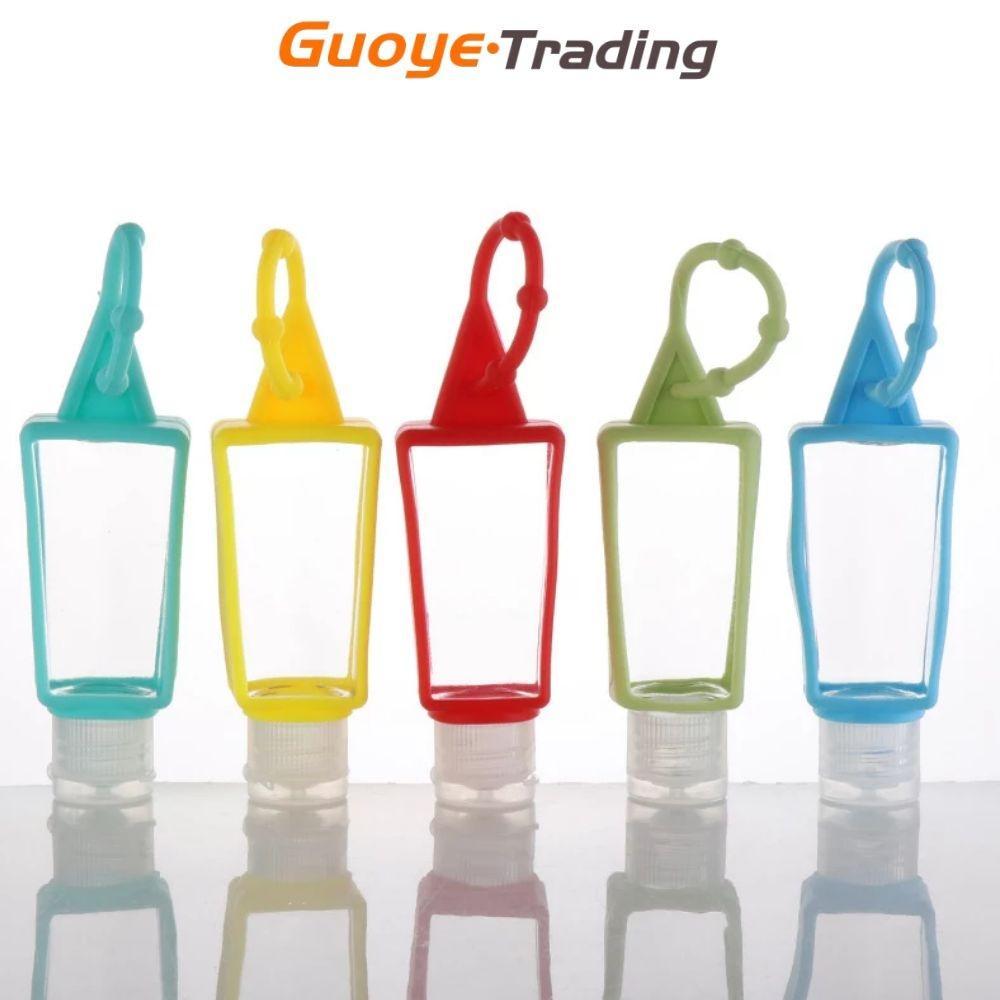 Main Sanitizer Bottle Bottle Shampooing Douche Gel Gel Corps de toner Bouteilles Silicone Sleeve Crochet Mini Portable en forme de T 30 ml Continuants de bouteilles à emporter