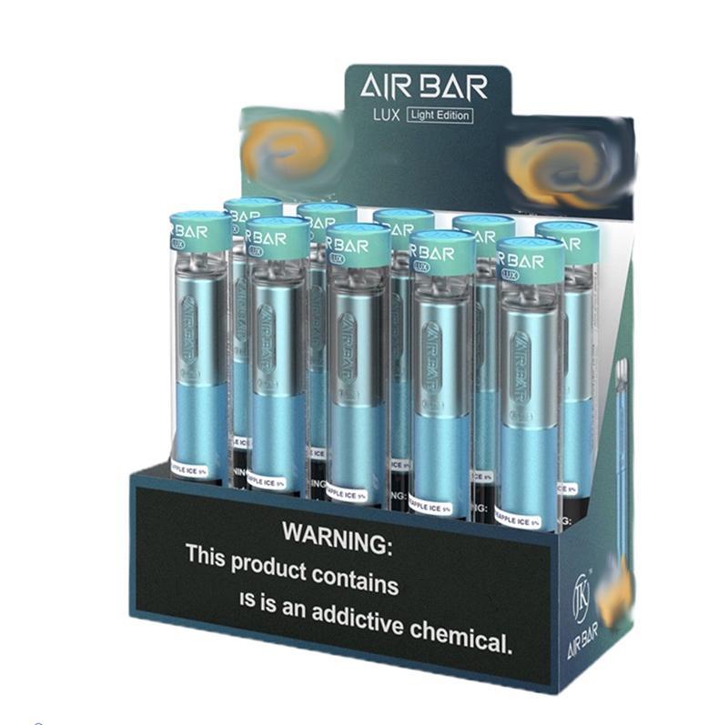JK Air BAR LUX EINTRAG VAPE PEN 1000 Puffs 500mAh Batterie 2.7ml Airbar Pods Max ELF 300 800 1500 Extra Bang XXL Switch Puff Bars Double Pro Rick VCAN