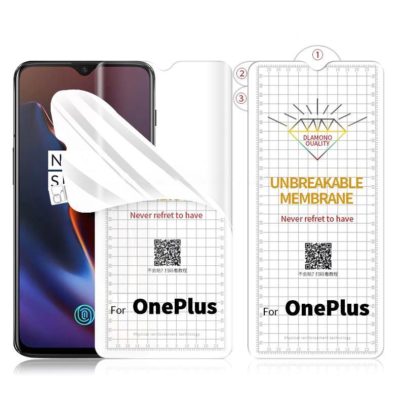 Yumuşak Hidrojel Filmi TPU Ekran Koruyucu AntiCricing OnePlus 8T 7T Pro Xiaomi CC9 Pro Redmi Not 10 Lite 10 Ultra