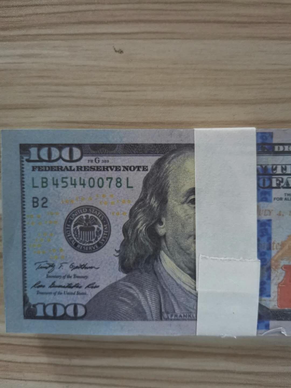 004 Meilleur Billet de banque Banknote 100 Nouveau Dollar Pop Dollar Party Fête Jouet Money Enfants Faux Qualité Devise HNSSU