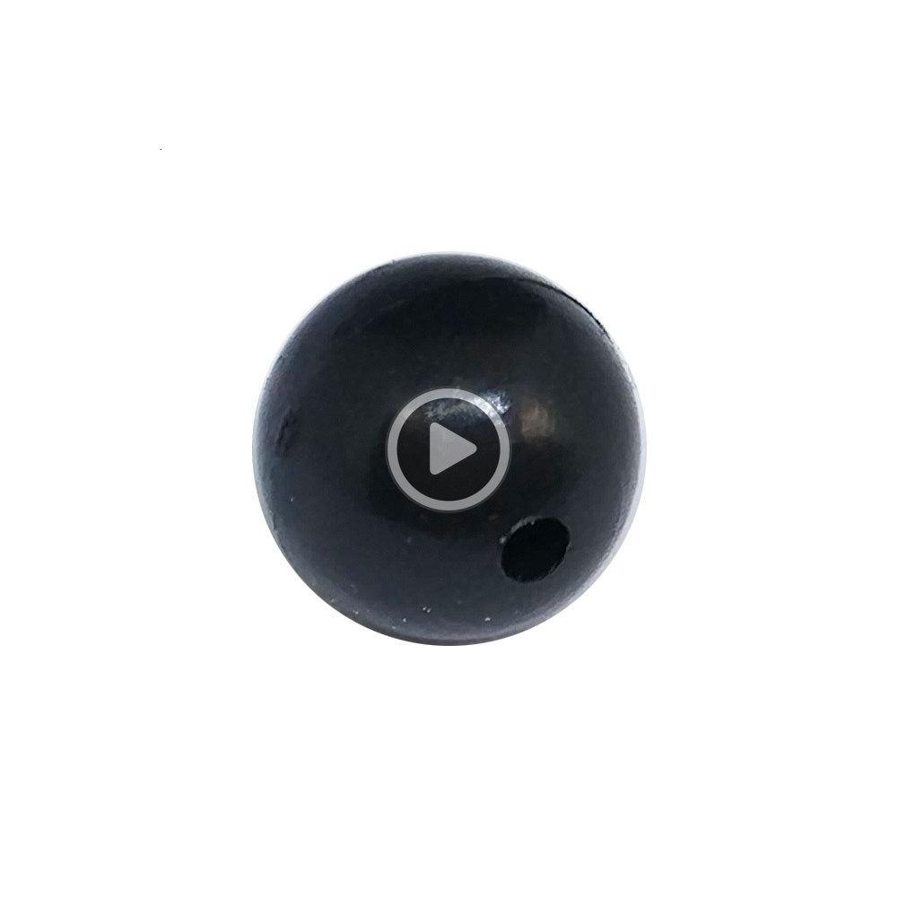0261 200pcs/pack Soft Plastic Beads Round Stopper m-12mm Black Soft Rubber Fishing Beads Stops Rig Carp Fishing Acssories