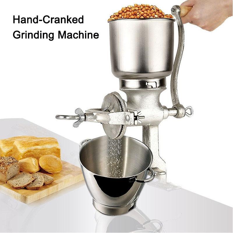 DHL GRÁTIS! Máquina de moedura manual do moedor de café para grãos aveia porca moinho manivela multifuncional ferro fundido café moinho