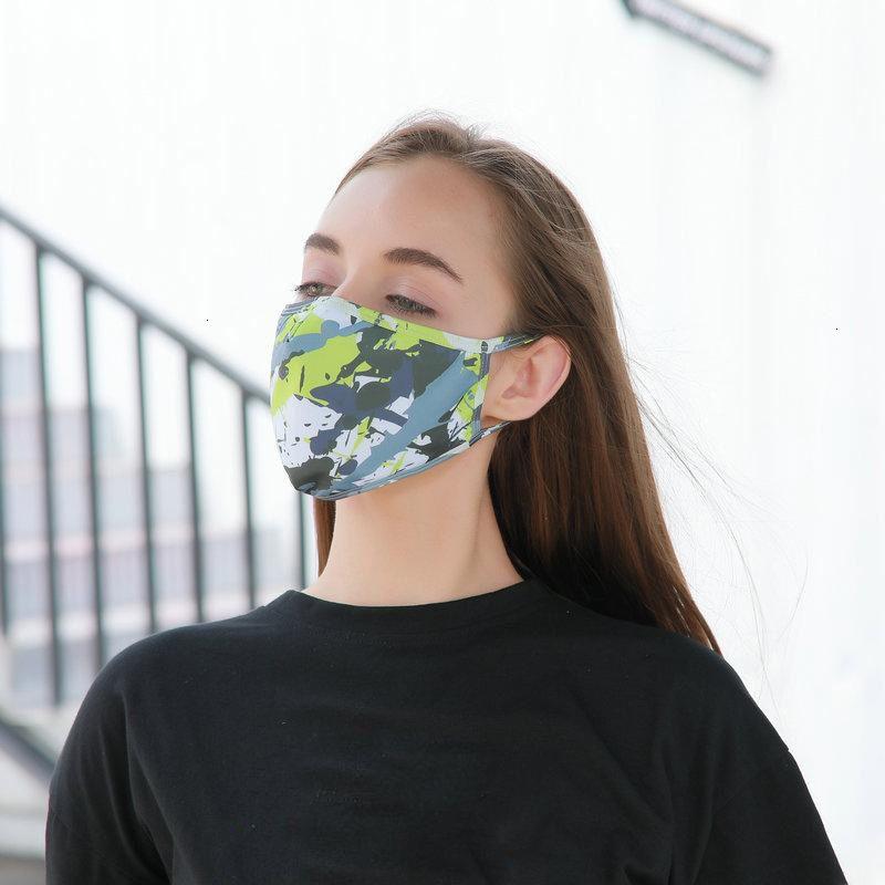 5 estilos de moda protector solar camuflaje lavable primavera verano fino transpirable anti-polvo pm2.5 máscara de filtro