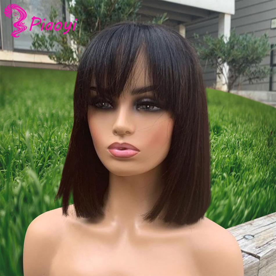 42%off Hot Sale! Full Lace Human Hair Wigs, Natural Color Full Machine Wig, Super Short Front Lace Wig