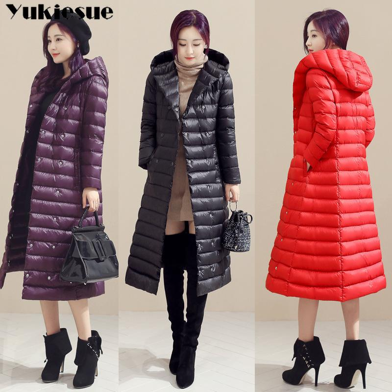 Primavera Plus Size 3xl longas jaquetas Ultra Luz 90% de pato Brasão de Down Hoodie do inverno do soprador Jacket Womens Parkas