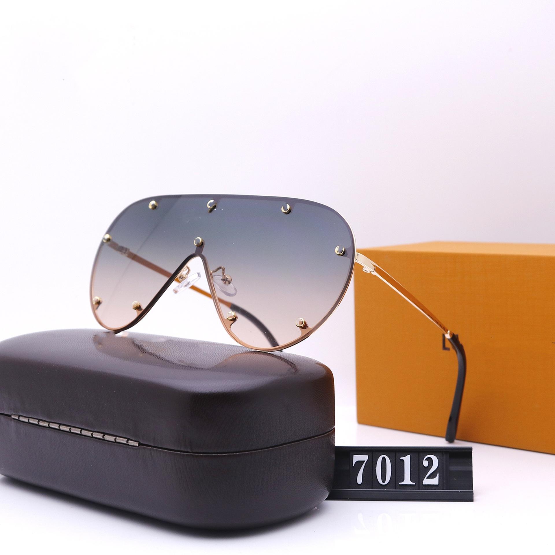 سبعة ألوان 2021 النظارات الشمسية للأزياء للرجال والنساء المصممين الفضي جودة عالية القيادة النظارات الاستقطاب 7012