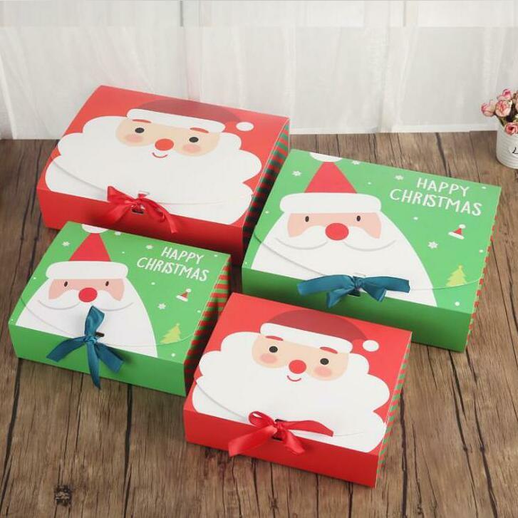 Navidad cajas de regalo de Navidad de embalaje gran fiesta de la caja caja de Papá Noel de papel cajas de regalo caja de diseño impreso caramelo Actividad Decoración DWC2650