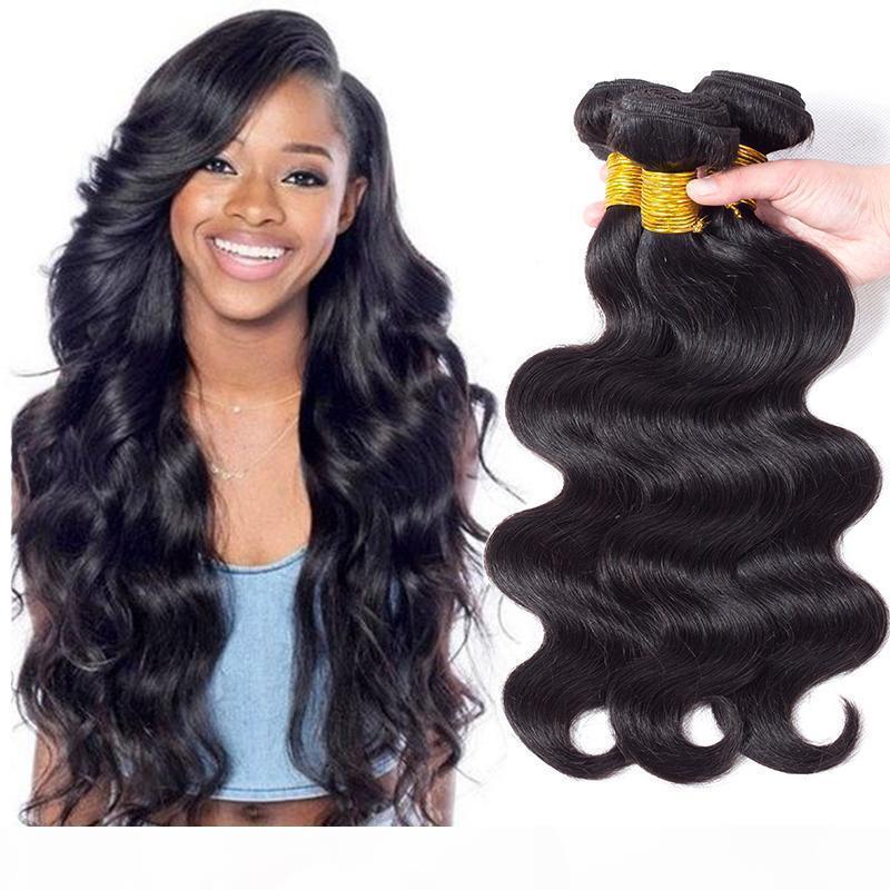 Новое поступление перуанской девственной волны тела человеческие волосы плетение 3 4 5 пучков дешевые 8a девственница малайзийские бразильские мокрые и осторожные волосы