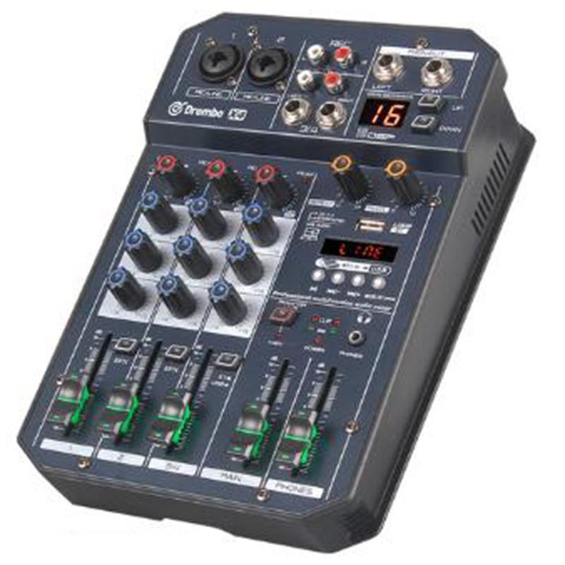 Х4 Channel Переносной Цифровой микшер о консоли с DSP эффектов Звуковая карта, Bluetooth, USB, для DJ PC Recording ЕС Разъем