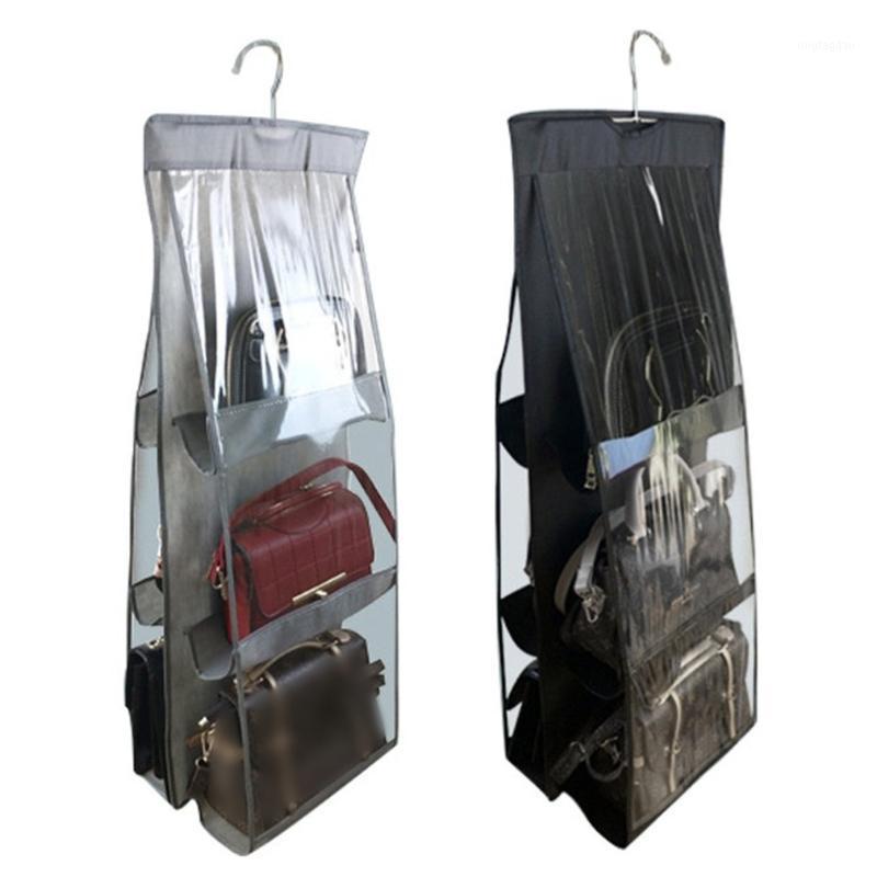 Ящики для хранения BINS 6 Карманные Складные Висячие Сумки 3 Слои Складной Полка Кошельки Сумочка Организатор Дверь Вешалка Вешалка Backet Backet