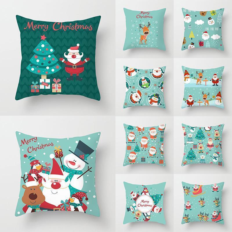 Noel Atmak Yastıklar Yastık Kılıfı Kılıfı Kapakları Kapakları Yastık Kapak Ev Malzemeleri Rahat Yastık Örtüsü Noel Ev Decor1