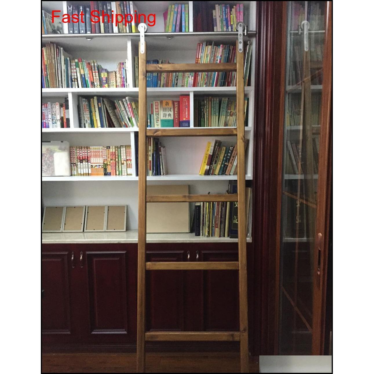 الفولاذ المقاوم للصدأ انزلاق مكتبة مكتبة الأجهزة انزلاق حظيرة سلم مكتبة سلم هاردو qyltyj dh_seller2010