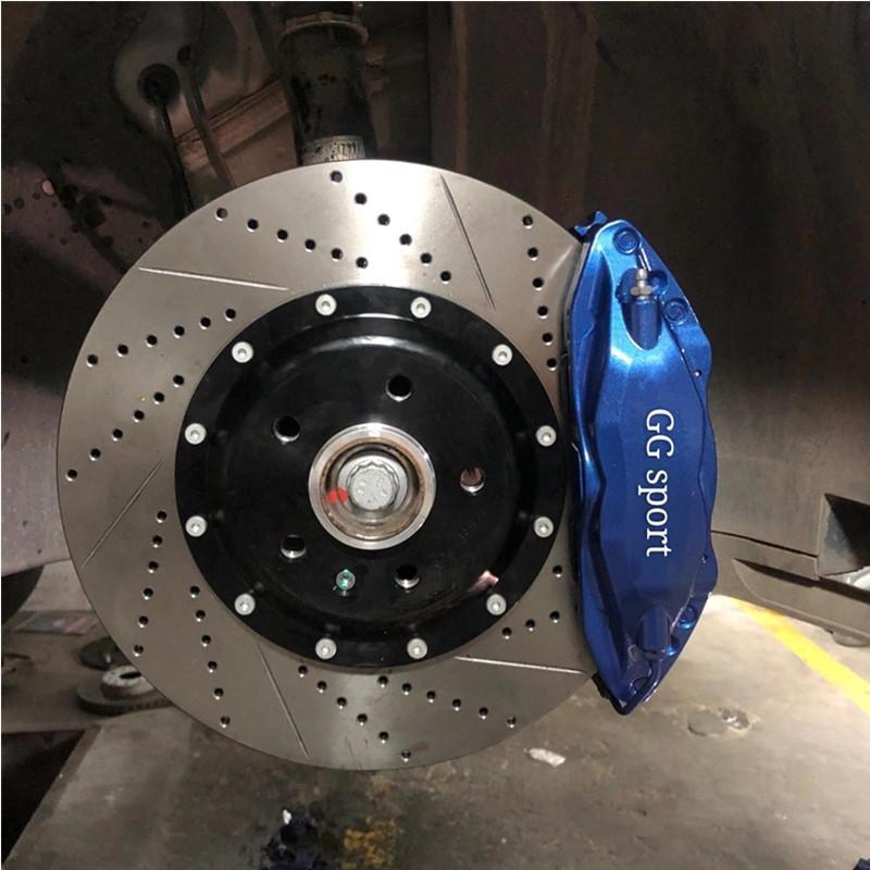 beste Qualität Bremsanlage F50 große Kolben 4 Bremssattel 5 * 112 PCD Zentrum Glocke für VW T-ROC