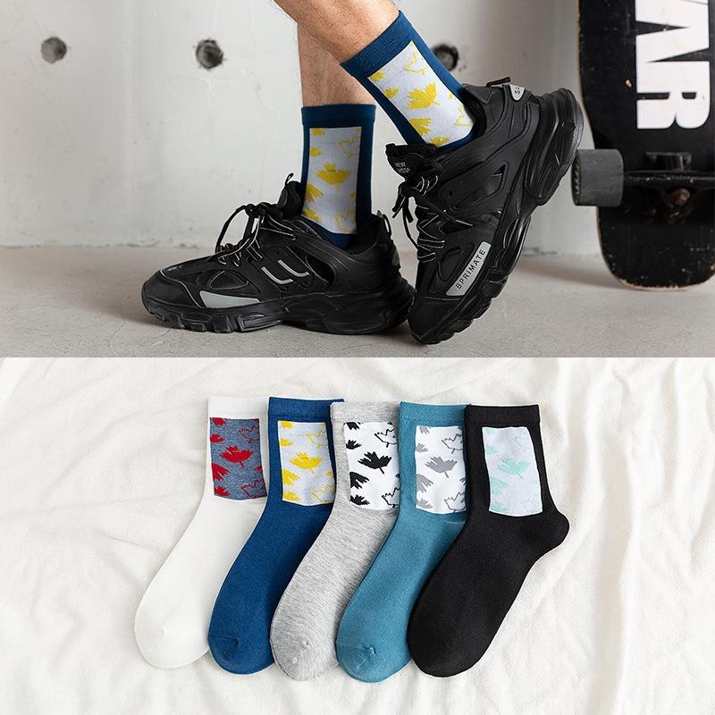 autunno degli uomini e l'inverno nuovo mezzo quadrato strada tubo uomini e calzini di moda socksstyle calzini di colore solido WSkPf