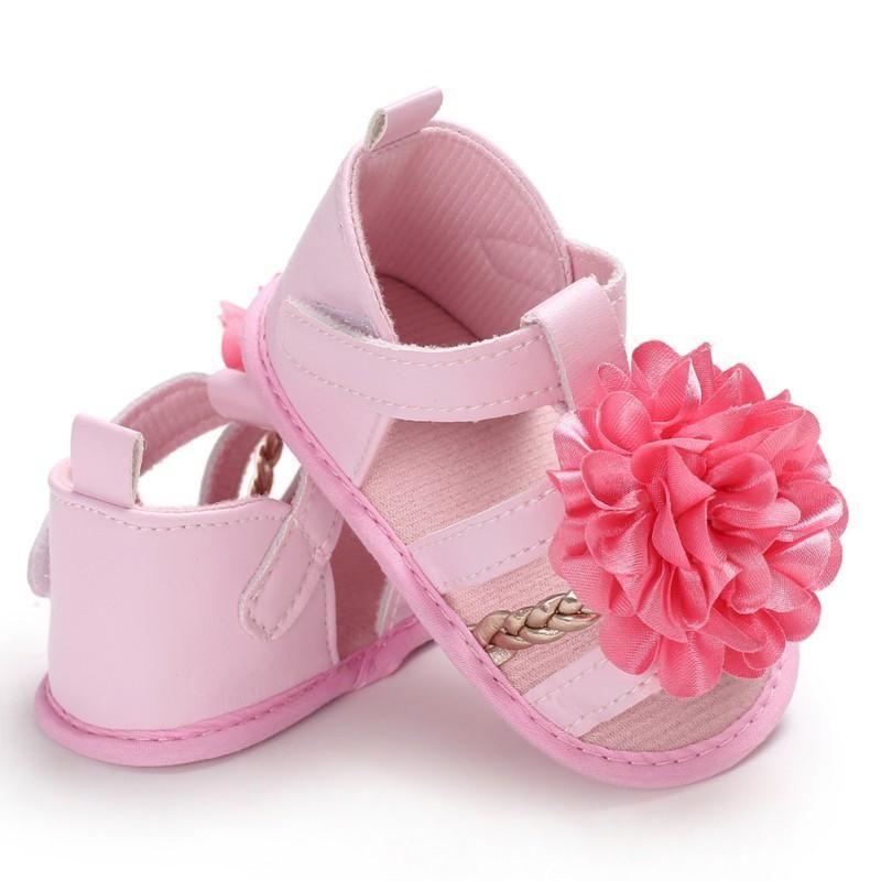 Nouveau-né bébé Le premier Walker Chaussures Mignon respirante Fleur Princesse Casual Chaussures enfant est doux d'été pour enfants