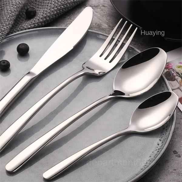 Set di cucchiaio in acciaio inox western western tableware della forcella di acciaio inossidabile della forcella dell acciaio inossidabile dell'acciaio inossidabile dell'acciaio inossidabile dell'acciaio inossidabile.