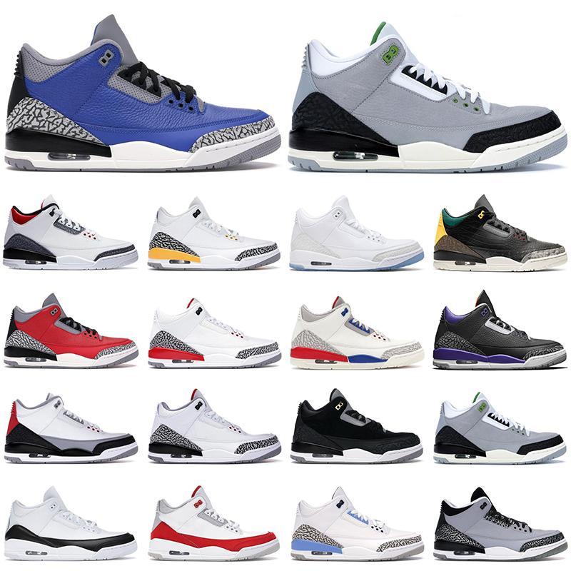 2020 Mens Sapatos de Basquete Jumpman 3s Royal Cimento Preto Cimento Branco Cimento Tinker Atlético Sapatilhas Moda Ao Ar Livre Treinador de Esportes Tamanho 7-13