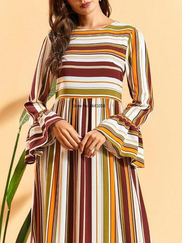 Ramadan Eid Mubarak Abaya Turchia Dubai Hijab abito da musulmano Abbigliamento islamico abaya Elegantes per le donne caftano caftano Robe Islam tdRM #