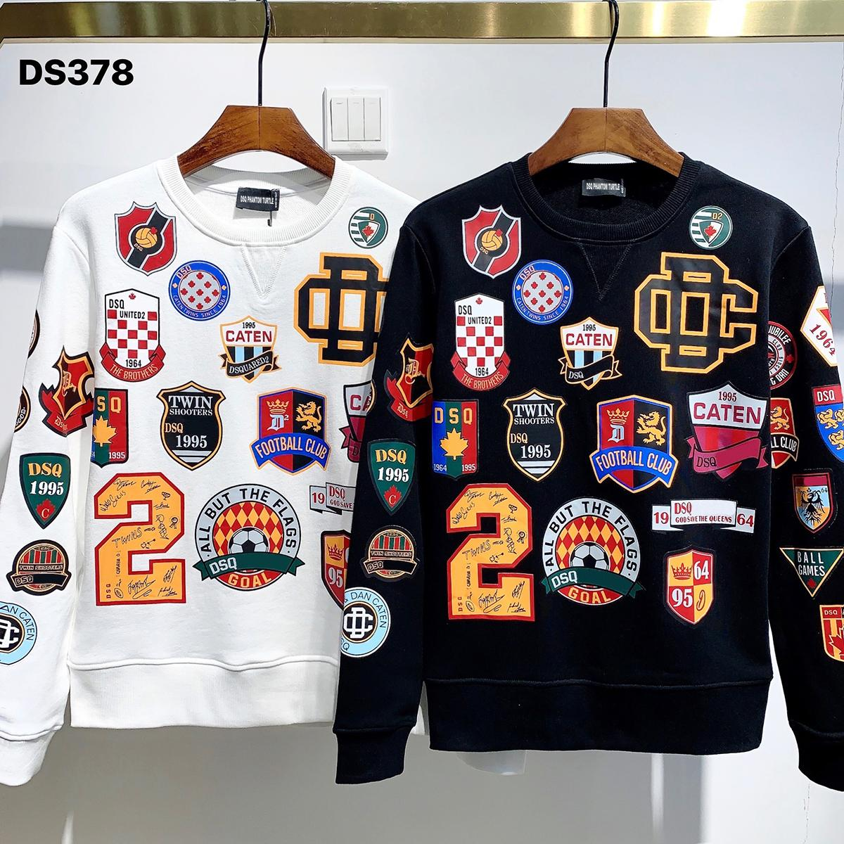 DSQ Phantom Turtle Hoody New Herren Designer Hoodies Italien Mode Sweatshirts Herbst Druck DSQ Hoodie Männliche Top Qualität 100% Baumwolle Tops 03219