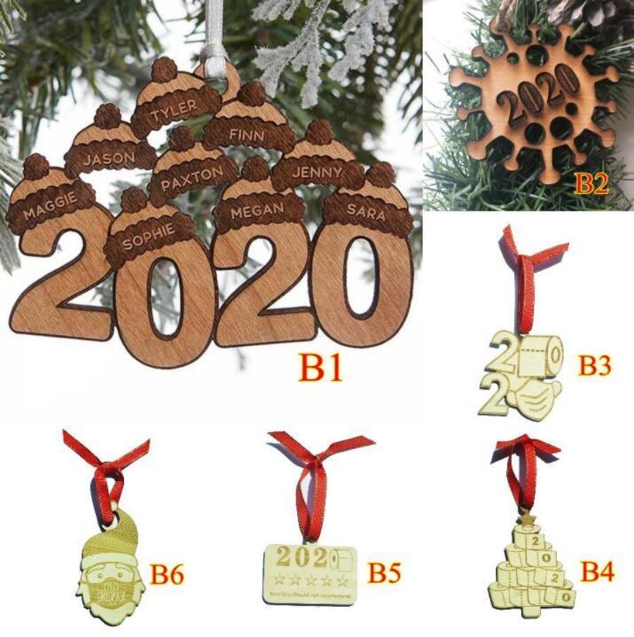 Деревянные рождественские украшения Санта-Клаус Туалетная бумага Deigners Blessing Фразы Рождественская елка Висячие Xmas Подвески партии Украшение aLSK1661