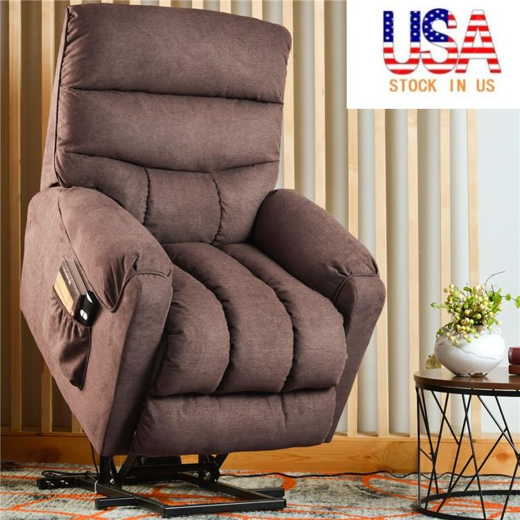 US STOCK Electric Power lift recliner Chair with Side Pocket suitable for the elderly Home Living Room Lounge Single Sofa PP191658AAD