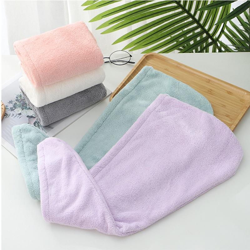 Trockenes Haar Caps Mikrofaser Quick Dry Dusche Magie Absorbent Haar Handtuch Trocknen Turban Wrap Spa Badekappe HHA-1669