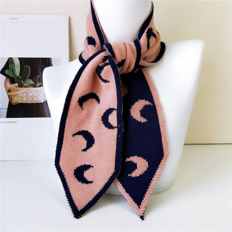 Sciarpe 2021 Winter Polka Dot Moon Stripes Design Design sciarpa lavorato a maglia Donne da uomo Knit Skinny Collo Scaldino Scaldatore Scarpi BUFANDAS INVIRNO MUJER