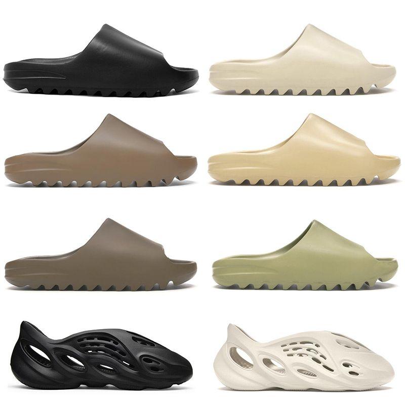 adidas yeezy slide kanye west chinelos baratos para mulheres dos homens óssea areia do deserto Terra Brown Resina de espuma corredor Ararat mens sandálias ao ar livre tamanho