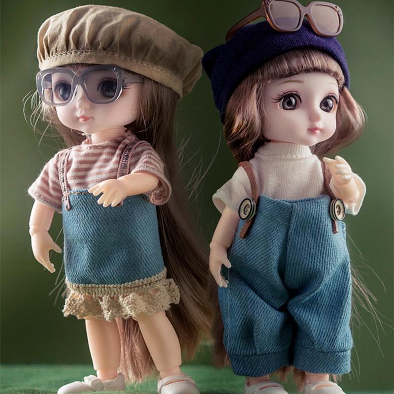 Nouvelle haute qualité 1/12 13 MOVIABLE JOINTAIRE 16 cm belle poupée BJD avec vêtements et chaussures habillées poupées jouet pour cadeau de filles