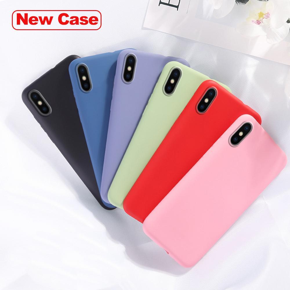 Flüssigskieselgel Anti-Rutsch-Apfel-Serie-Handy-Fälle für iPhone 7 8 x xs 11 11PRO max