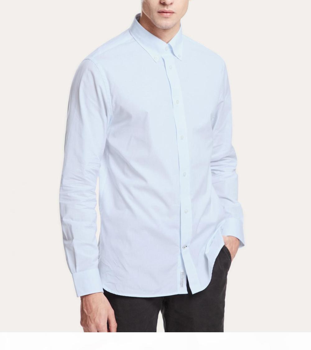 polo coccodrillo manica lunga mens polo camicie camicia aziendale ricamo autunno camicie bianche francese manica lunga