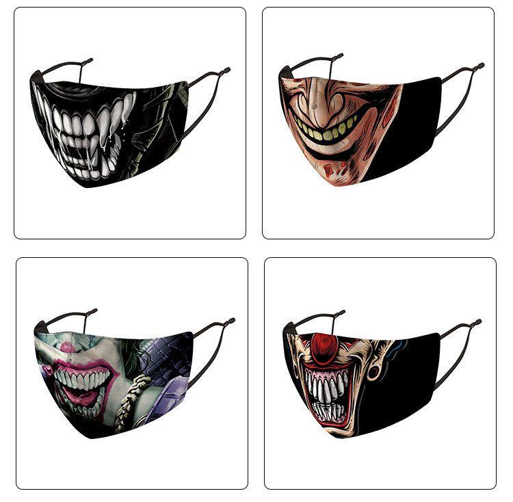 Máscaras Halloween face mask homens mulheres designer de palhaço de rosto máscaras tio Máscara de fumo do crânio do cabeça de palhaço máscara partido impressão 3D