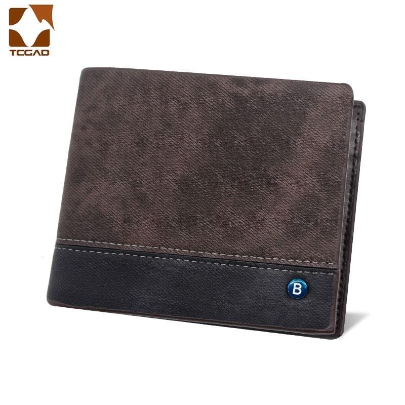 Кошелек Короткие Мужчины Сложите три ретро кошельки мужской Трифольд сумка Кожаный роскошный кошелек Маленькая Cartera Hombre Pequena Pocket Pocket IPCLC