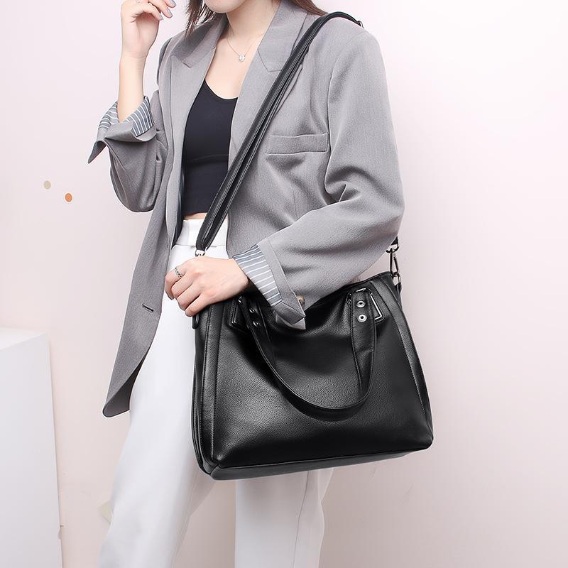 Deinen saison damen 2021 mode pendler große kapazität handtasche lässige frau pu leder schulter crossbody taschen einfarbig