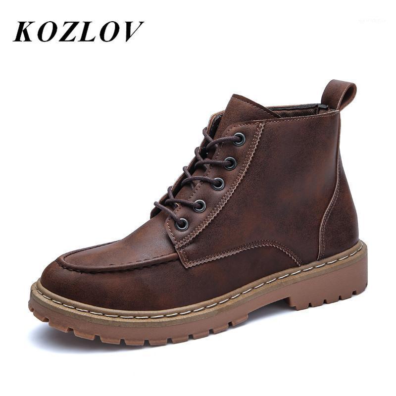 خمر أحذية الكاحل الرجال الأحذية للرجال أحذية السلامة العمل عارضة ماء رعاة البقر للماء ل bot kozlov1