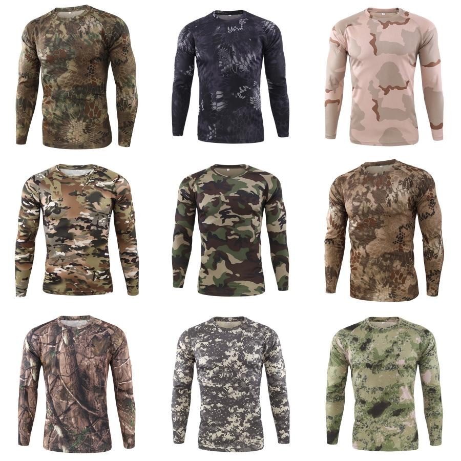 Top Men T shirt di qualità di moda autunno-inverno Slim Fit Casual T-shirt manica lunga Mens alta leopardo TopsTees stampa # 858